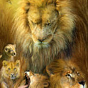 Seasons Of The Lion Poster by Carol Cavalaris
