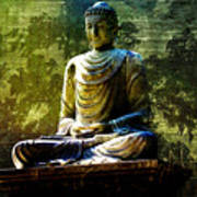 Seated Buddha Poster