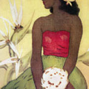 Seated Hula Dancer Poster