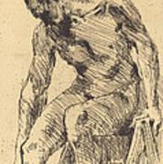 Seated Male Nude (sitzender M?nnlicher Akt) Poster