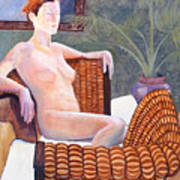 Seated Nude Poster by Don Perino