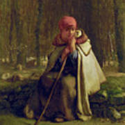 Seated Shepherdess Poster