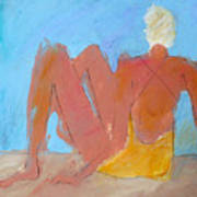 Seated Woman Poster