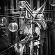 Seattle Alley In Black And White Poster