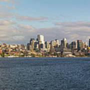 Seattle City Skyline Along Lake Union Poster
