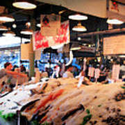 Seattle Fish Throw Pike St Market Poster