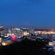 Seattle Panorama At Twilight Poster