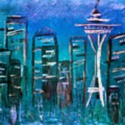 Seattle Skyline 2 Poster by Melisa Meyers