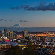 Seattle Skyline Panorama Poster