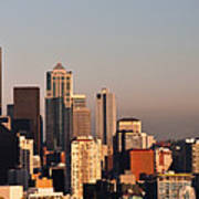Seattle Sunset Panorama Poster