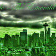 Seattle Washington - The Emerald City Poster