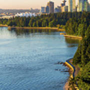 Seawall Along Stanley Park In Vancouver Bc Poster