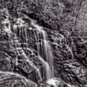 Secluded Falls - Bw Poster