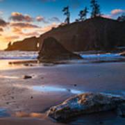 Second Beach Sunset Poster