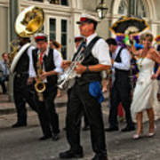 Second Line Wedding On Bourbon Street New Orleans Poster