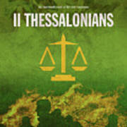 Second Thessalonians Books Of The Bible Series New Testament Minimal Poster Art Number 14 Poster