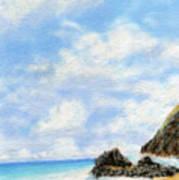 Secret Beach Sky Poster