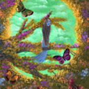 Secret Butterfly Garden Poster