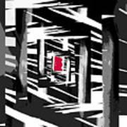 Secret Red Door Poster by Gerlinde Keating - Galleria GK Keating Associates Inc