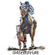Secretariat At The Belmont Mural Poster