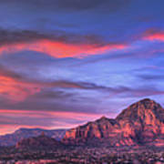 Sedona Arizona At Sunset Poster by Eddie Yerkish