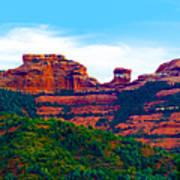 Sedona Arizona Red Rock Poster by Jill Reger