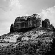 Sedona In Black And White Poster
