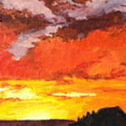 Sedona Sunset 2 Poster by Sandy Tracey