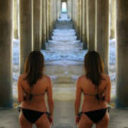 Seeing Double, Huntington Beach, California Poster