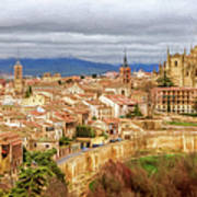 Segovia Cathedral View Poster