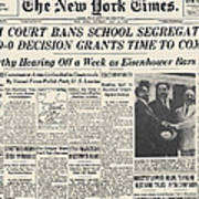 Segregation Headline, 1954 Poster by Granger