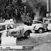 Segregationist Riot At Old Miss. Burned Poster
