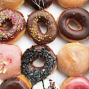 Selection Of Doughnut Poster
