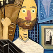 Self-portrait As Homage To Picasso Poster