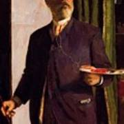 Self Portrait In Studio 1893 Poster