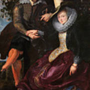 Self Portrait With Isabella Brandt, His First Wife, In The Honey Poster