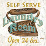 Self Serve Laundry Poster by Debbie DeWitt