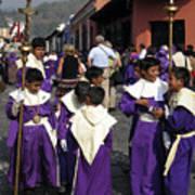 Semana Santa Procession II Poster by Kurt Van Wagner