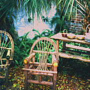 Seminole Indian Made Outdoor Furniture Poster