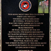 Semper Fi To The 1st Man Down In Iraqi Freedom Plaque Poster