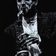 Sensational Sax Poster by Richard Young