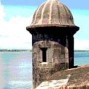Sentry Box In El Morro Poster