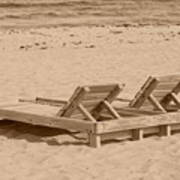 Sepia Chairs Poster