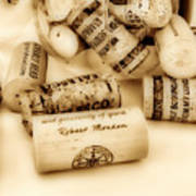 Sepia Corks Poster by Cheryl Young