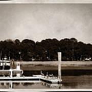 Sepia Tone Lagoon Poster