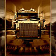 Sepia Toned Kenworth Abstract Poster