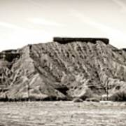 Sepia Tones Nature Landscape Nevada  Poster