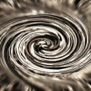 Sepia Whirlpool - Derived From Ribbon Grass Plant Image Poster