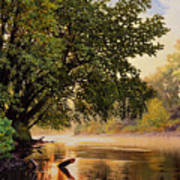 September Dawn, Little Sioux River - studio painting Poster