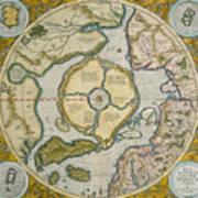 Septentrionalium Terrarum Descriptio Poster by Gerardus Mercator